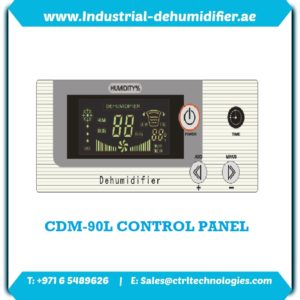 Control Panel of CDM-90L Industrial Dehumidifier