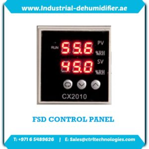 Dehumidifier sizing with FSD Series control panel