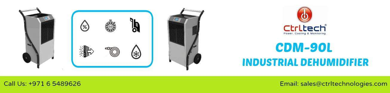 Dehumidification made easy by CDM-90L Dehumidifier.