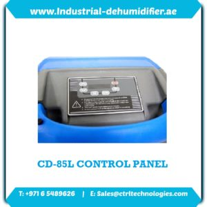 Control Panel of CD-85L Industrial Dehumidifier Dubai