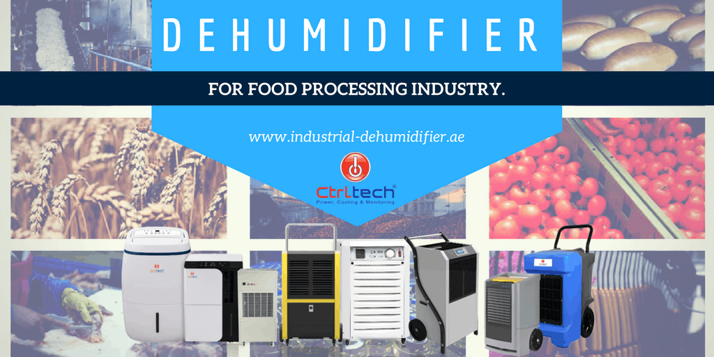 Industrial dehumidifier for food industry.