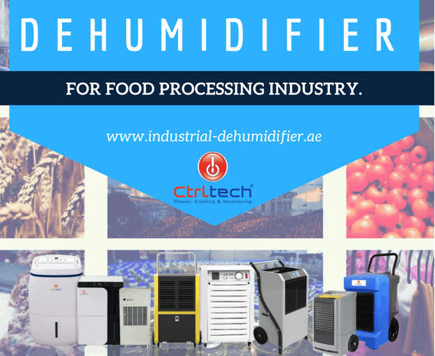 Industrial Dehumidifier for Food Processing Industry.