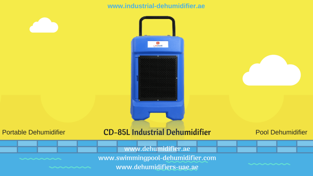 CD-85L dehumidifiers for industrial and swimming pool use.