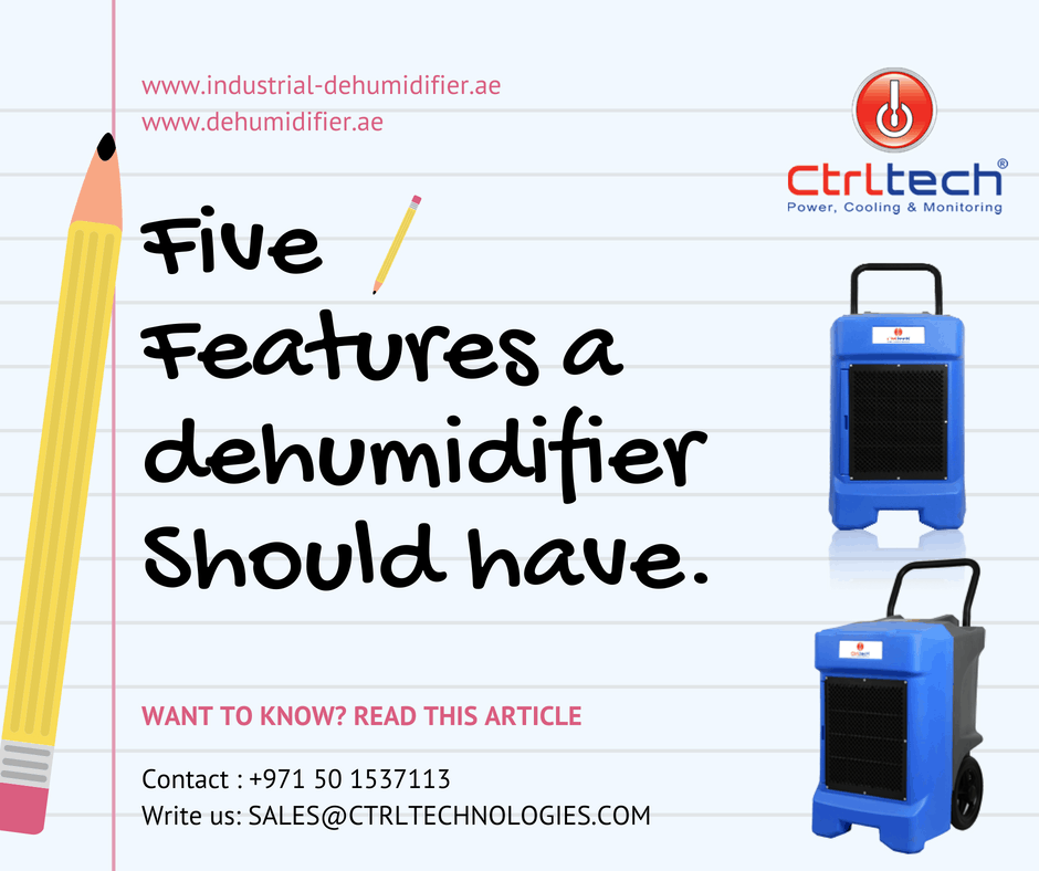 Dehumidifiers should have these five features.